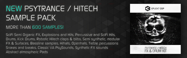 Psytrance / Hitech FX & Drum Kit sample pack