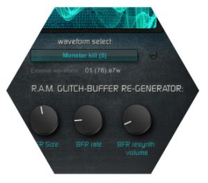 Bassthronn Bass synthesizer R.A.M. Glitch buffer re-generator
