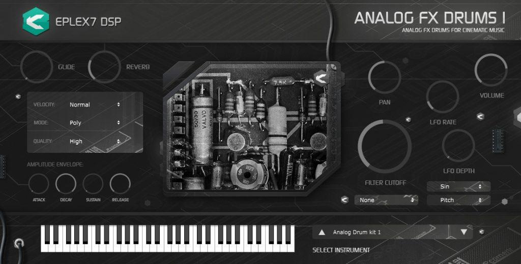 Eplex7 Analog FX Drums 1 plugin instrument