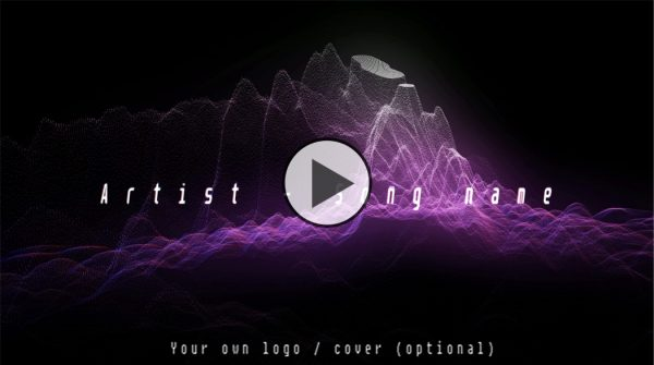 Tech house ambient techno music visualizer