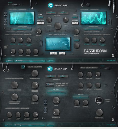 Eplex7 Bassthronn Bass synthesizer 2 pages VSTi plug-in
