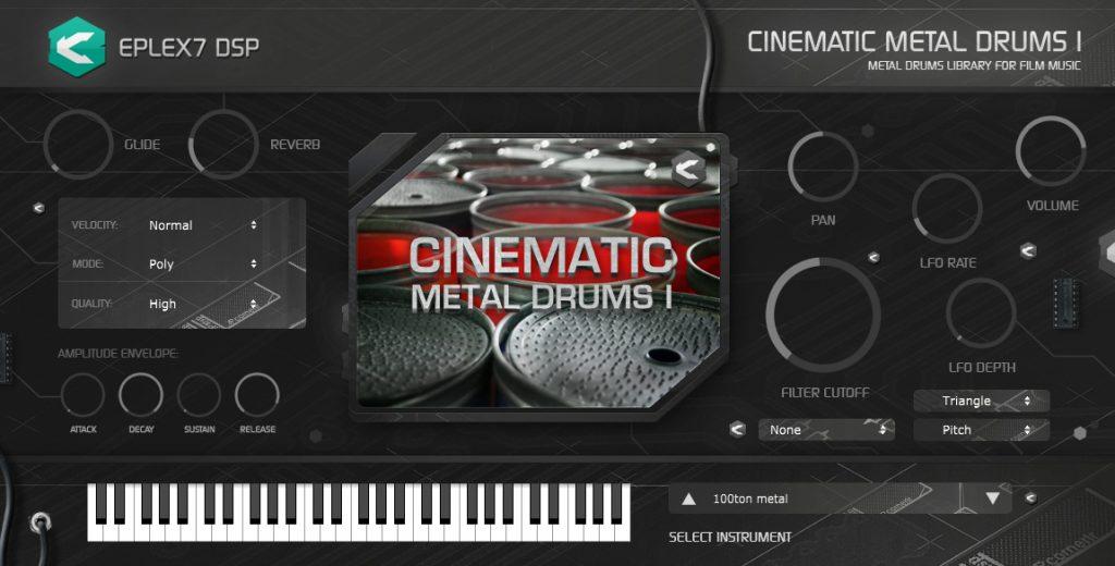 Eplex7 Cinematic Metal Drums 1 plugin instrument