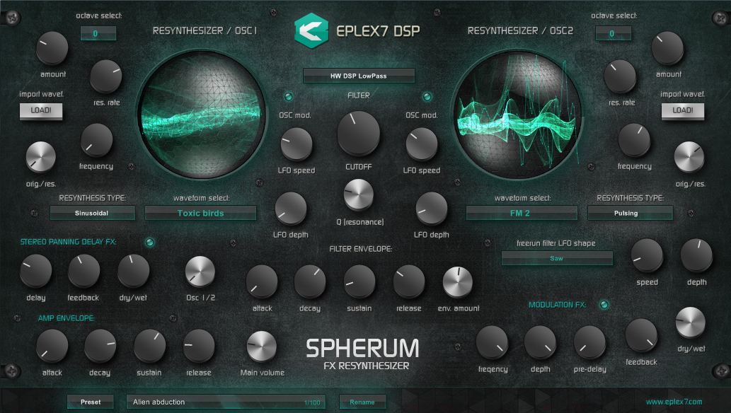 Spherum FX Re-Synthesizer VST plugin