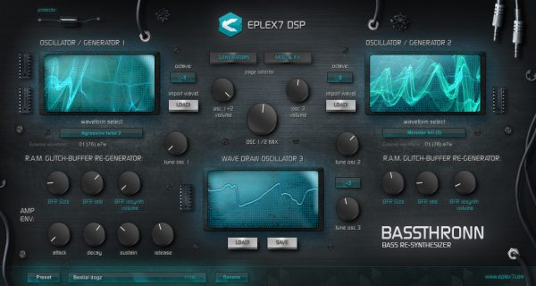 Eplex7 Bassthronn – Bass Re-Synthesizer VSTi plug-in