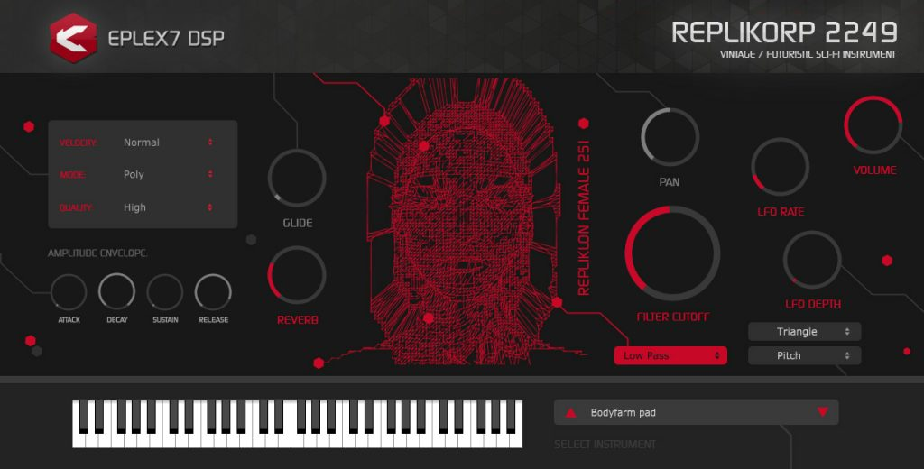 VSTi / AU plug-in instrument with analog sounds and futuristic sound atmosphere
