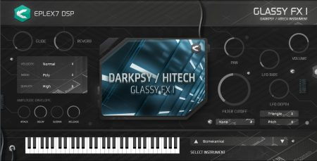 Glassy hitech darkpsy psycore FX 1 plug-in instrument from Eplex7
