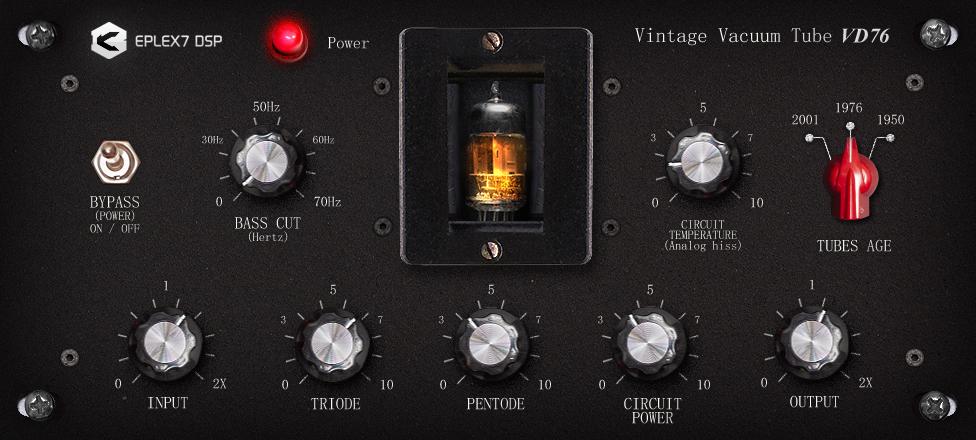 Vintage vacuum tube VD76 plugin effect VST