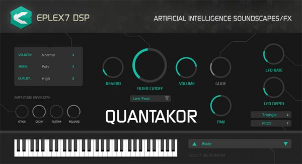 Eplex7 DSP Quantakor VST / AU plugin instrument for psytrance (Win / Mac, 32 bit / 64 bit)