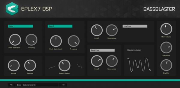 Bassblaster bass plugin effect for futuristic, mechanic basslines