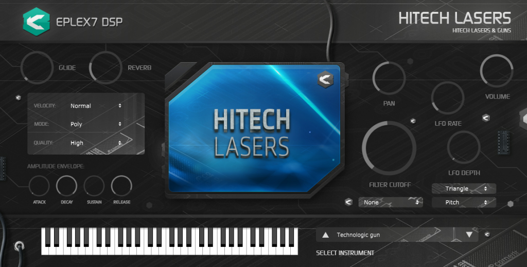 Eplex7 Hitech lasers sound effects plug-in instrument
