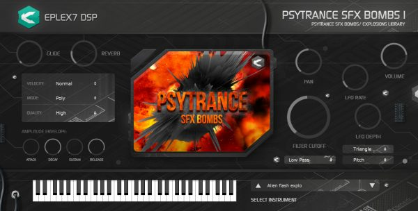 Eplex7 Psytrance SFX bombs 1 plug-in instrument