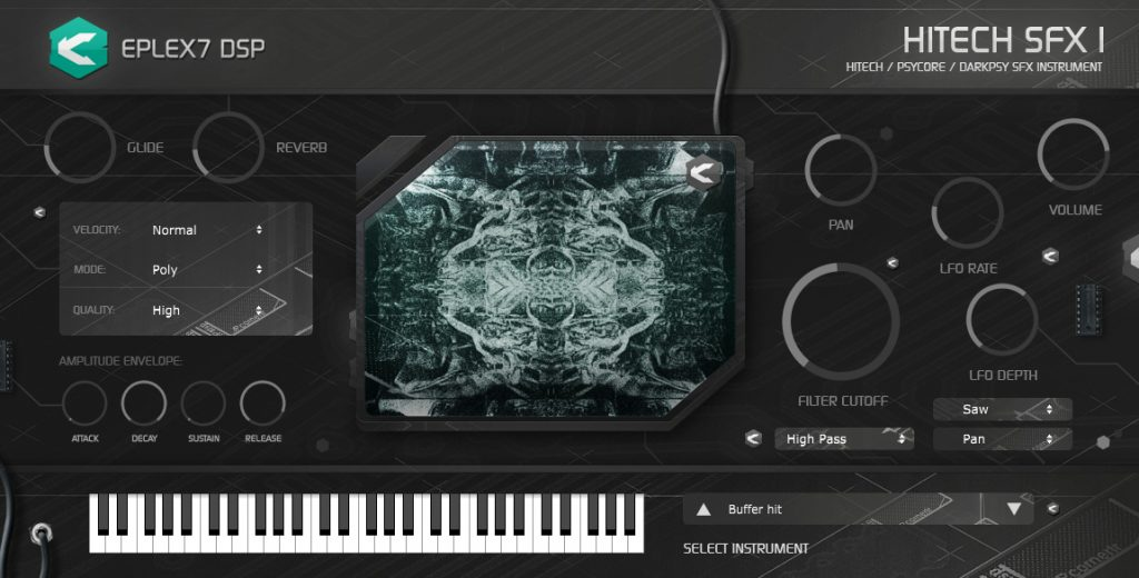 Eplex7 DSP Hitech SFX1 VST / AU Hi-tech plugin instrument (Win / Mac, 32 bit / 64 bit)