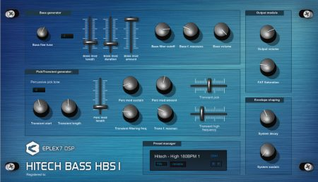 Hitech Bass HBS1 advanced bassline VST plugin synthesizer
