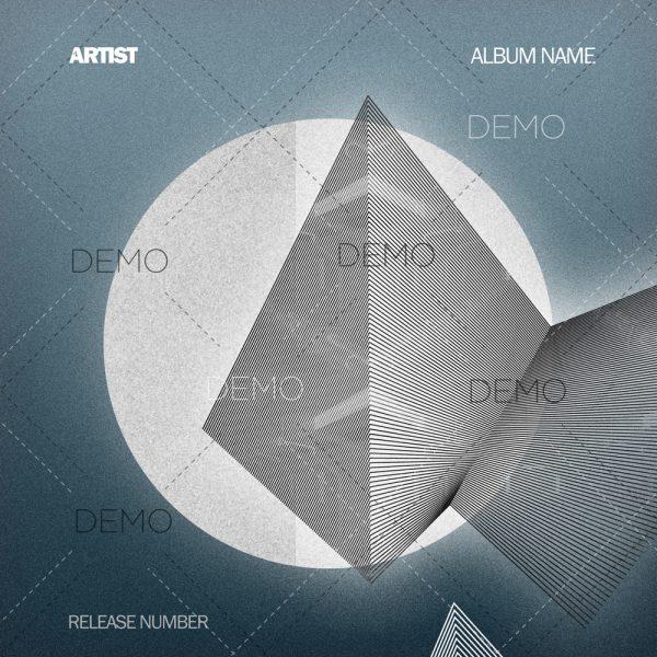 Minimal techno cover design for sale