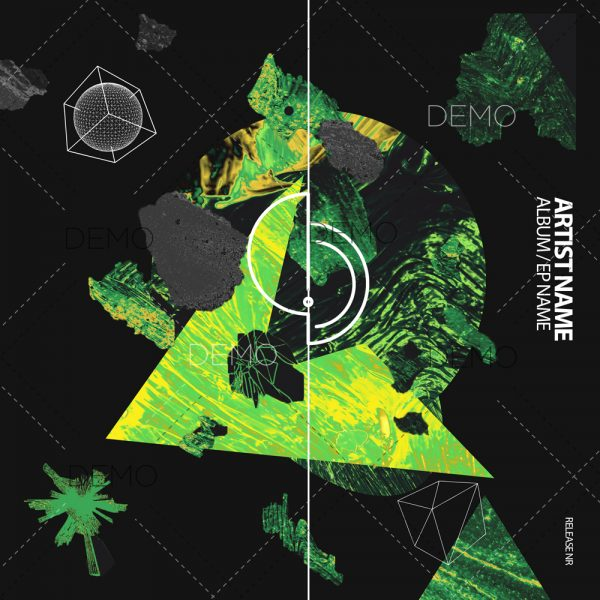 Modern techno cover art design for sale