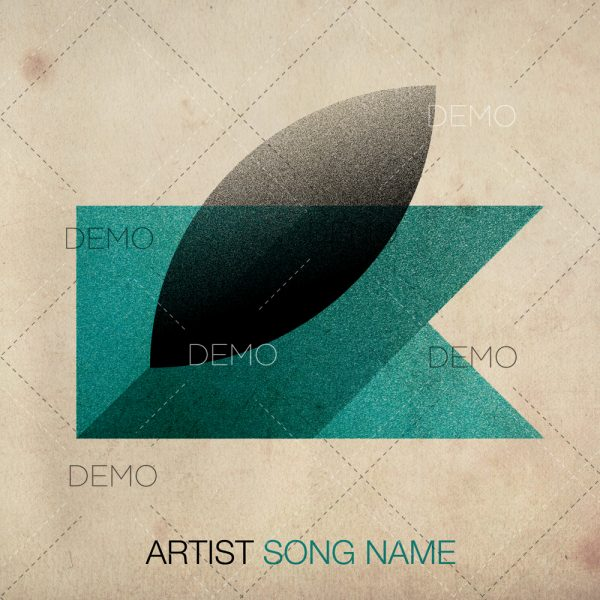 Minimal techno album cover artwork for producers