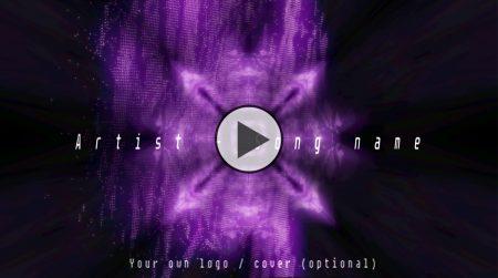 Music visual for hitech, psytrance, techno music