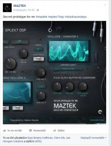 Maztek testimonial on Eplex7 Bassthronn bass synthesizer