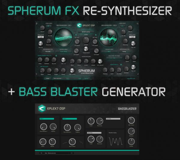 Eplex7 plug-in bundle - VST Synthesizer and VST bass plug-in effect